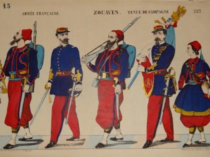 Le Second Empire s'expose en Imagerie d'Epinal – Uniformes Soldats