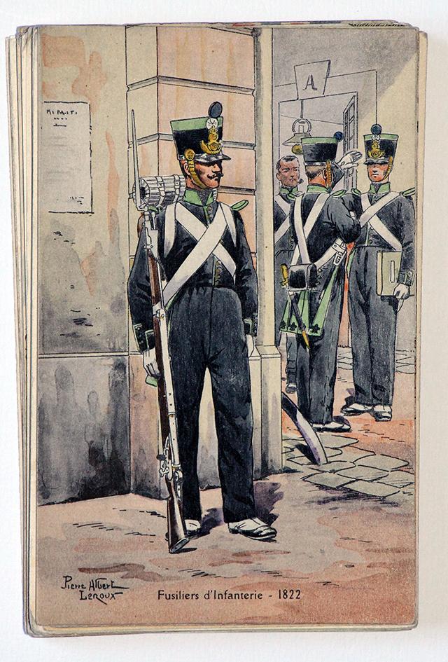 Fusilier d'infanterie - 1822 - Pierre Albert Leroux