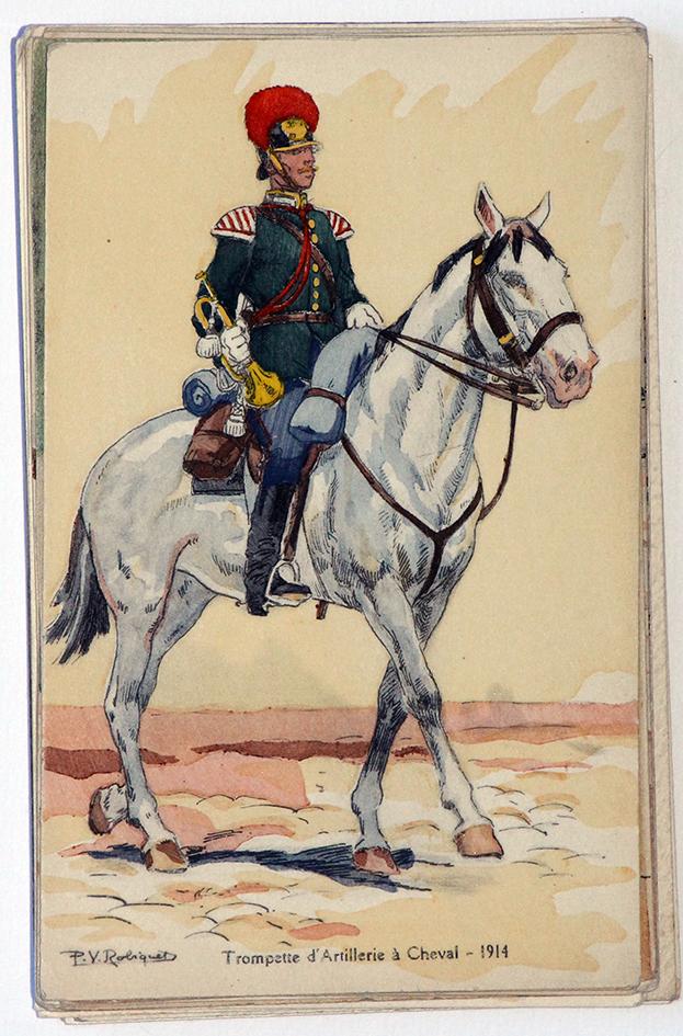 Trompette d'artillerie à Cheval - 1914 - P.V. Robiquet
