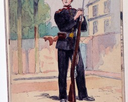 Élève du 1er Corps des cadets 1914 russie