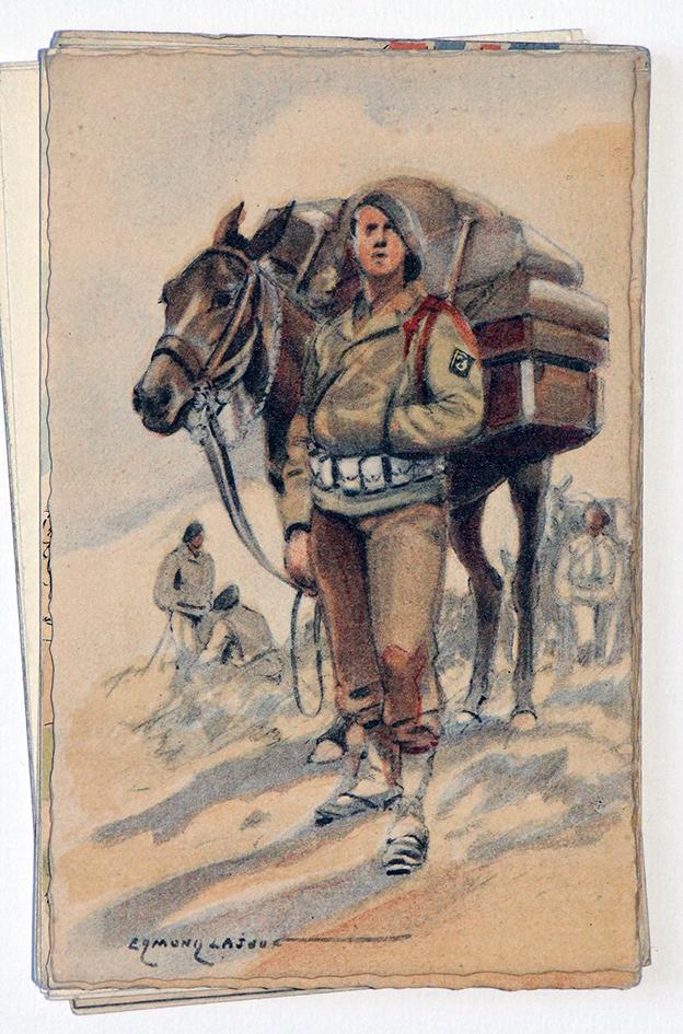 Armée Française de la libération Chasseur Alpin 1945 - Edmond Lajoux