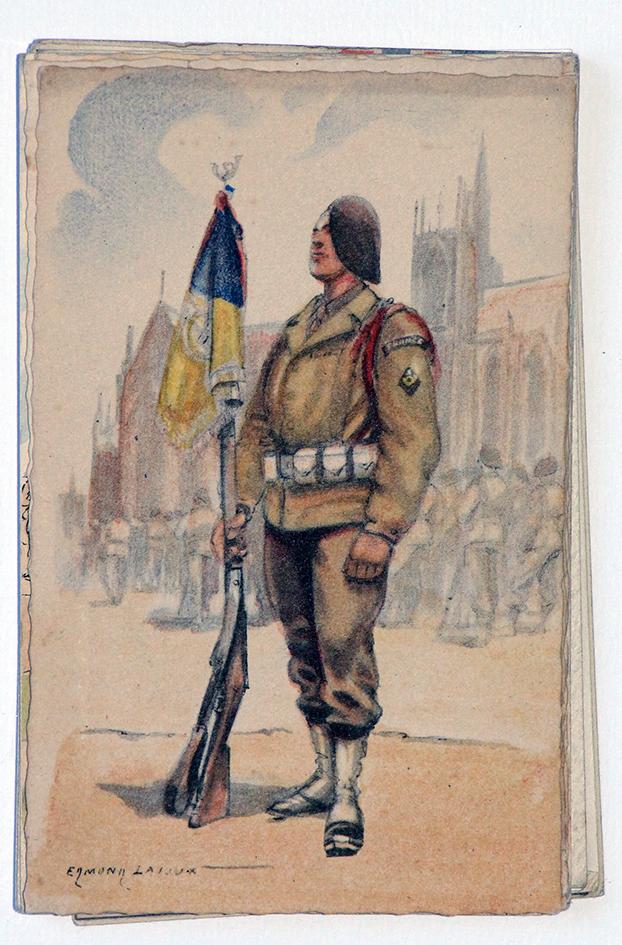 Armée Française de la libération Chasseur à Pied 1945 - Edmond Lajoux