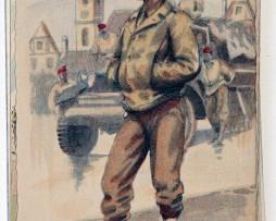 Armée Française de la libération Spahis 1945 - Edmond Lajoux