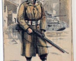 Armée Française de la libération Fantassin 1945 - Edmond Lajoux