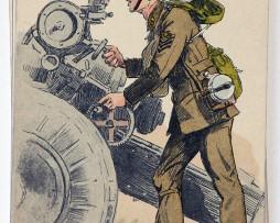 Armée Anglaise Artillerie - 1939 - Maurice Toussaint
