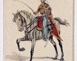 Hussards Français - 9 régiment Colonel - 1845