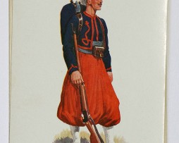 Zouaves 1900 Officier et Soldat - Musée Maréchal Franchet d'Esperey Alger - Lucien Rousselot