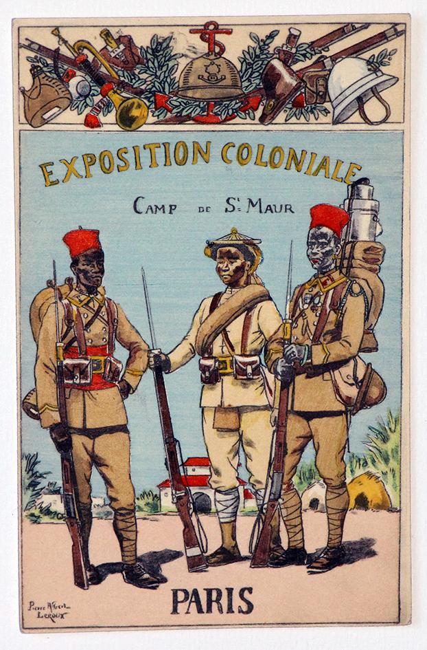 Infanterie Coloniale - Exposition coloniale Paris - Pierre Albert Leroux