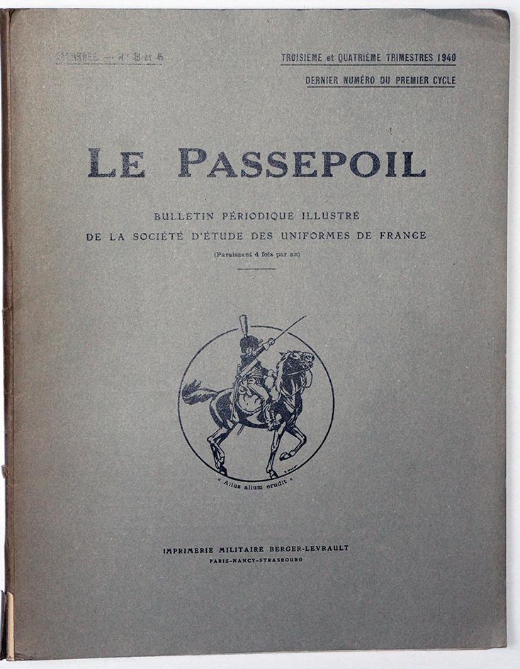Le passepoil année 1940/3/4 - Bucquoy - Uniformes Armée Française