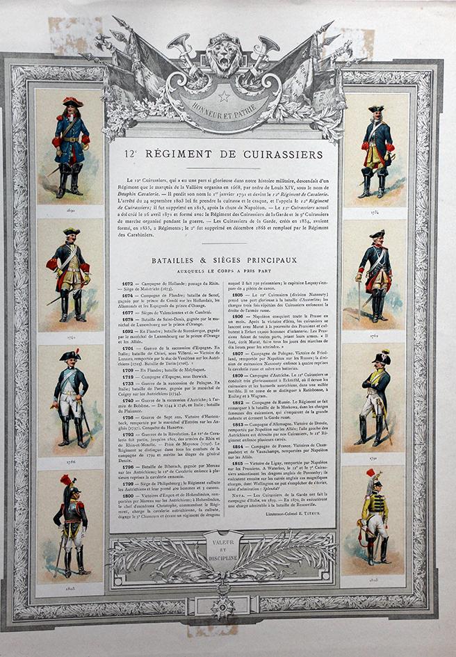 Precis Historique Des Regiments De Cuirassiers