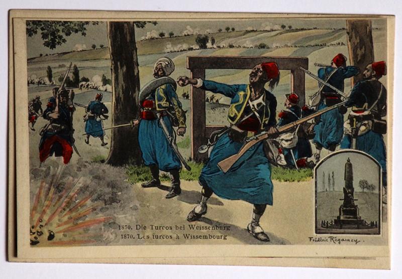 La bataille de Wissembourg 1870 - Turcos au combat - Frédéric Régamey