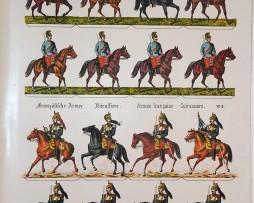 Planche imagerie Wissembourg Guerre Armée Autrichienne Française Soldats de carte