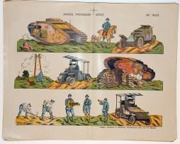 Planche imagerie Wissembourg guerre 1914 armée française Genie uniforme