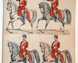 Planche imagerie wissembourg guerre armee prussienne hussards