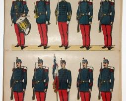 Planche imagerie Wissembourg Armée Française Infanterie Uniforme