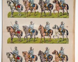 Planche imagerie Wissembourg guerre 1914 armée française Artillerie cavalerie