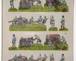 Planche imagerie Wissembourg guerre 1914 armée française Artillerie uniforme