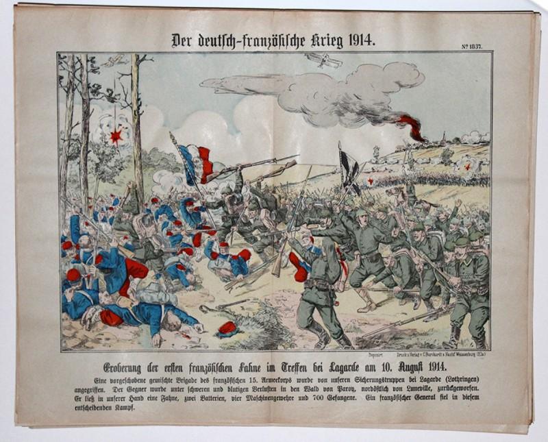 Planche imagerie planche imagerie wissembourg guerre 1914 combats de Lagarde 10 aout 1914