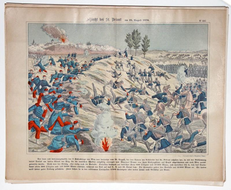 Planche imagerie wissembourg guerre 1870 combats saint privat