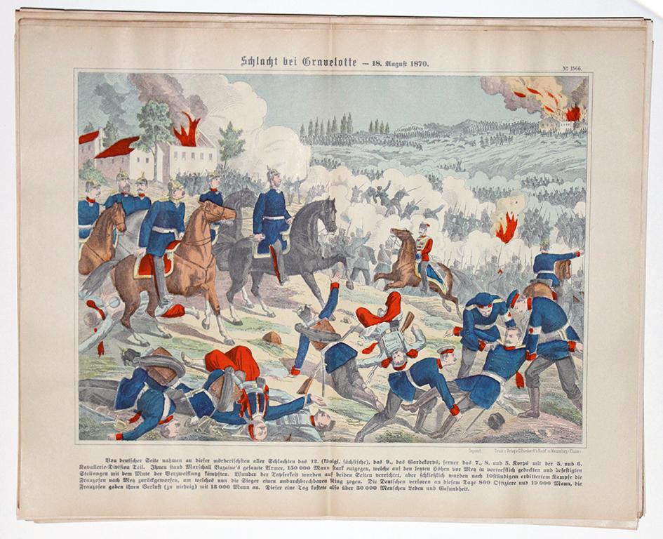 Planche imagerie wissembourg guerre 1870 combats Gravelotte