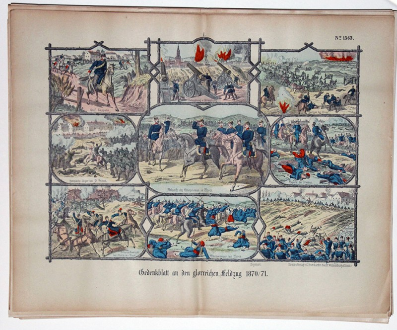 Planche imagerie wissembourg guerre 1870 combats mars la tour wörth st privat