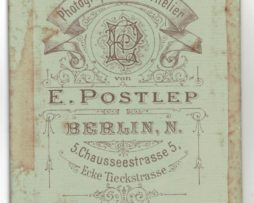 CDV Soldat Prussien 1895 - Berlin - rehaussée en couleur