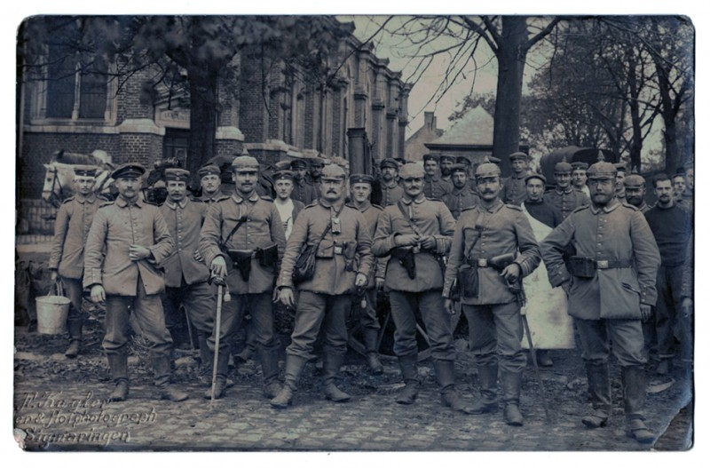 Carte photo Groupe Soldats Prussiens Badois - 1914/1915
