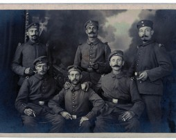 Carte photo Groupe Soldats Prussiens - 1914/1915