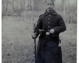 Carte photo Soldat Landwehr Prussien - 1914/1915