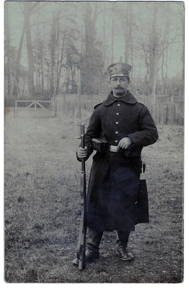 Carte photo Soldat Landwehr Prussien - 1914/1915