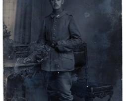 Carte photo Soldat Prussien 1914/1915