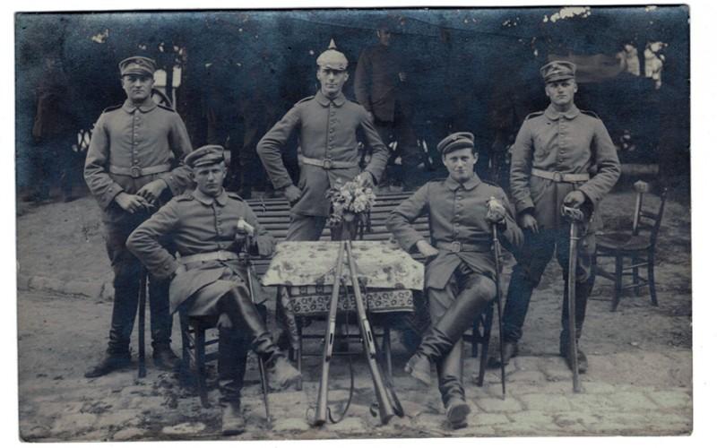 Carte photo Soldat Allemand Cavalier 1914/1918