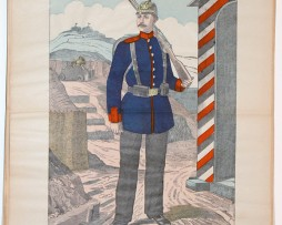 Planche imagerie Wissembourg guerre Armée Prussienne Uniforme Infanterie