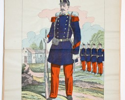 Planche imagerie Wissembourg guerre Armée Française Uniforme