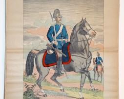 Planche imagerie wissembourg guerre 1914 armée Prussienne Saxonne Cavalerie