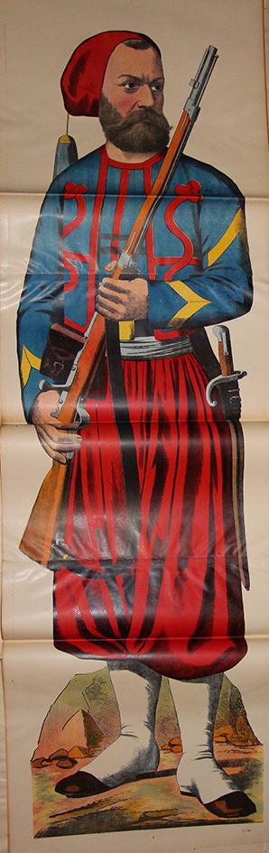 Grande planche dépliante Wissembourg Zouave Uniforme France Guerre 1870