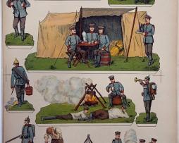 Planche imagerie Wissembourg Guerre Armée Prussienne Infanterie Soldats de carte
