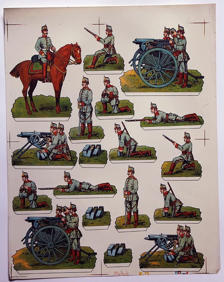Planche imagerie Wissembourg Guerre Armée Prussienne Mitrailleuse Soldats de carte