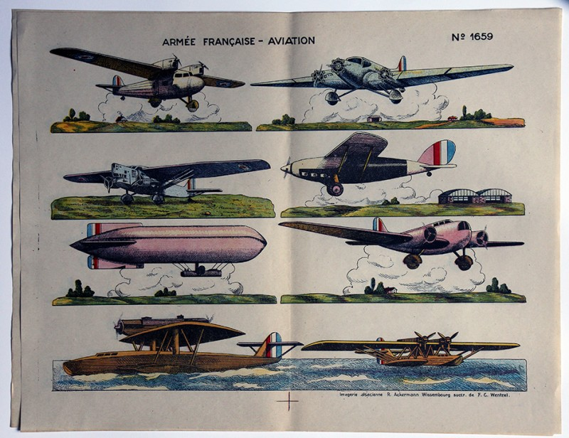 Planche imagerie Wissembourg Aviation Armée française 1930