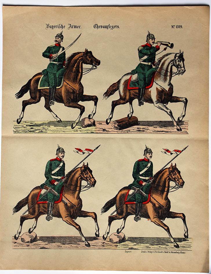 Wissembourg Armée Chevaux Légers Bavarois Uniforme