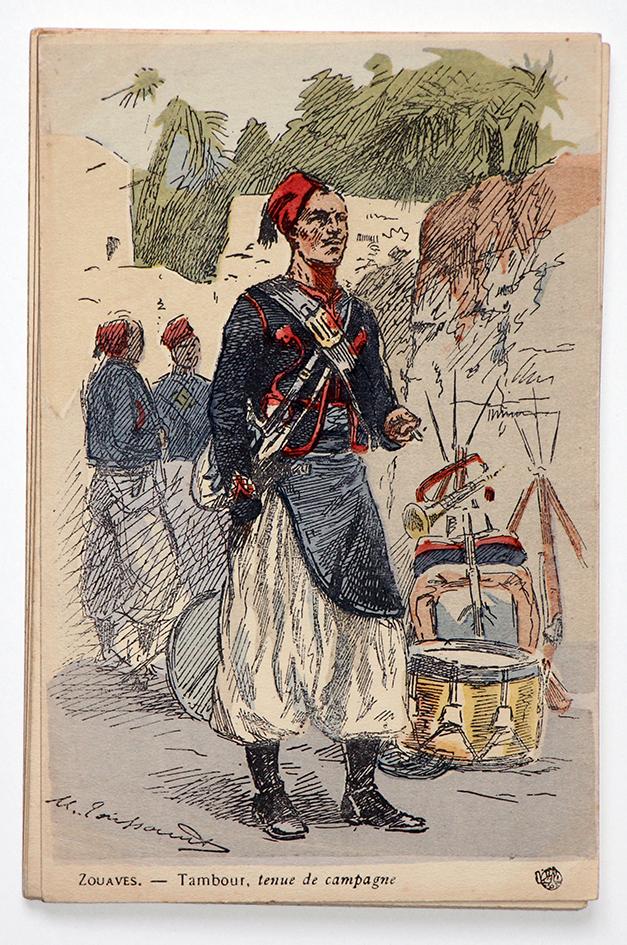 Zouaves 1900 Tambour tenue de campagne - Uniformes - Maurice Toussaint