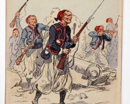 Zouaves a l'assaut - Tenue de campagne - Uniformes - Maurice Toussaint