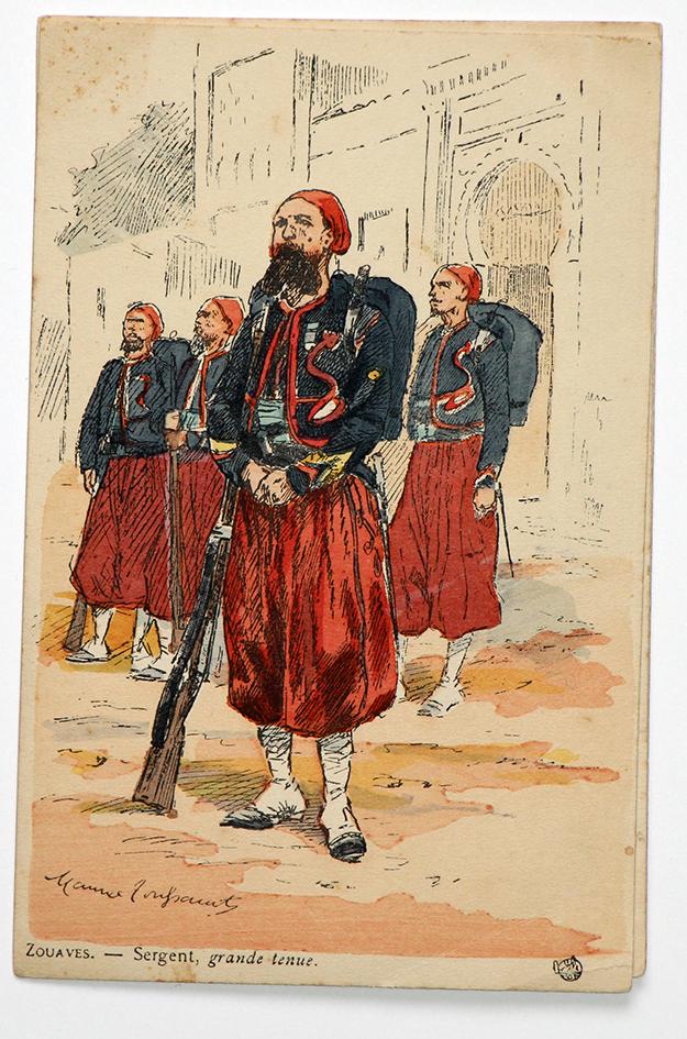 Zouaves Sergent grande tenue - Uniformes - Maurice Toussaint