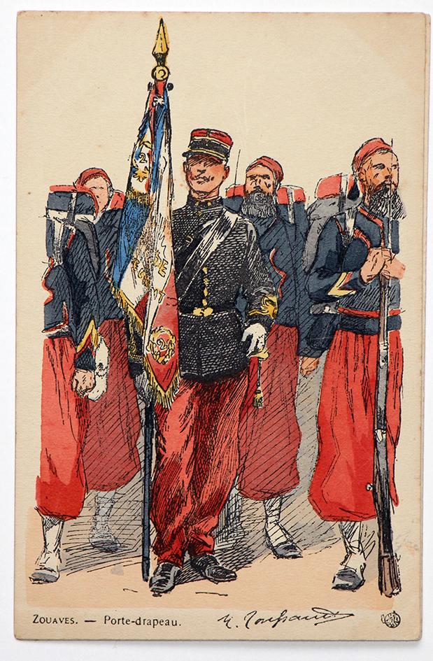 Zouaves Porte drapeau - Uniformes - Maurice Toussaint