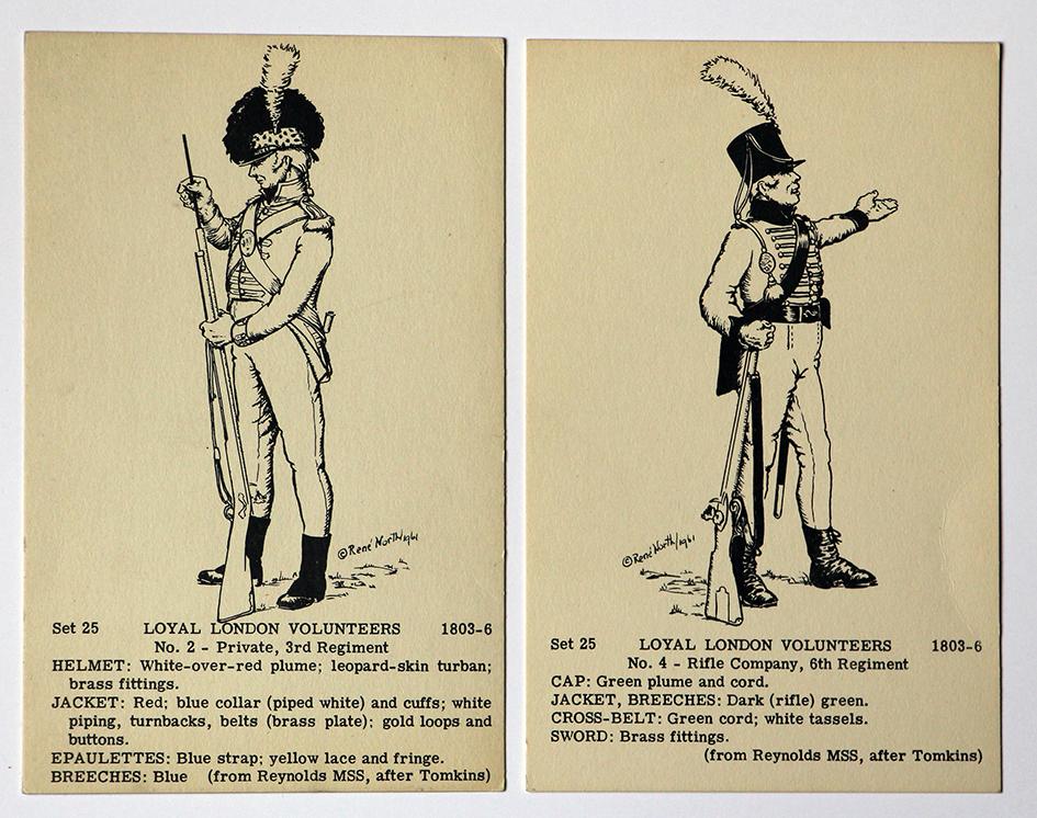 Carte uniforme - René North - Paint your own - Uniforme 1er Empire