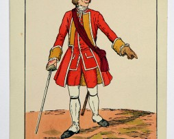 Heerespostkarten - England 1742 - Officier East Suffolk Régiment - Illustration Schäfer
