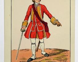 Heerespostkarten - England 1742 - Officier East Suffolk Régiment - Illustration Schäfer