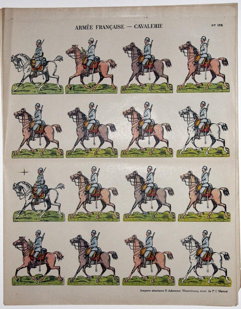 Planche imagerie Wissembourg guerre 1914/18 armée française Cavalerie