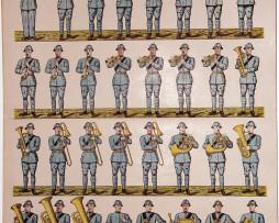 Planche imagerie Wissembourg guerre 1914/18 armée française Infanterie Musique