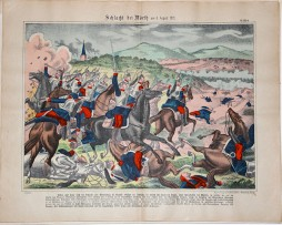 Planche imagerie wissembourg guerre 1870 Bataille de Wörth 6 Aout 1870